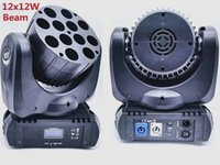 Luz de cabeza móvil LED 12x12W RGBW 4IN1 Color con canales DMX avanzados de 9/16 para DJ Disco Fiestas Show Lights