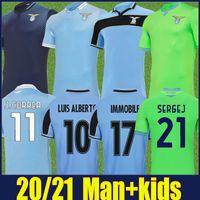 2020 2021 Lazio Soccer Jersey Home Away Men Kit Kit Sergej Imóvel Jersey Jerio Lazio Lulic J.Correa Luis Alberto Soccer Shirts 20/21