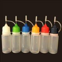 Renkli Yumuşak PE İğne Şişesi Boş Damlalık 5 ML 10 ML 15 ML 20 ml 30 ml 50 ml Şişe Güvenli Ego Buharı E Sıvı Çocuk Geçirmez İğne Kapağı