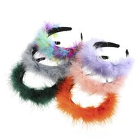 Multicolor Feather Headband For Women Plume Hairband Special Bezel Head Hoop Girls Prom Party Hair Accessories