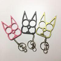 Creative finger tiger cat 2 finger buckle with key chain self defense tool portable window breaker HW64