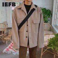 Laine de l'homme mélange IEFB Vapelle coréenne Veste en laine lâche manteau courte automne hiver épaississement tops mode décontracté vêtements pour homme 9Y4505