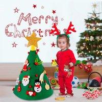 Qifu Filz Weihnachtsbaum Weihnachtsmann Merry Weihnachten Dekor für Home Navidad Natal Kesrt Baum Cristmas Frohes Neues Jahr 201026