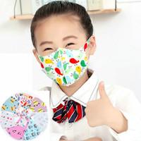 stok üst satışında çocuk maskesi 4-12Y Bireysel paket Tasarımcı yüz maskesi buz ipek koruyucu Yeniden kullanılabilir yıkanabilir çocuk karikatür Pamuk maskeleri