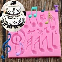 الموسيقى ملاحظة قالب سيليكون أدوات أقراص سكرية تزيين الكعكة 3D الحرفية الحدود حلوى الشوكولاته قوالب
