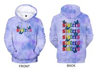 James Charles Colorful 2020 Hoodies Blue Butterfly 3D Sweat Mode hommes / femmes Lettre Streetwear régulier Polyester capuche X1022