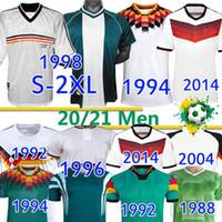 Retro Soccer Jerseys 1980 88 1990 1992 1994 1996 1996 1998 2004 06 2014 ألمانيا الكلاسيكية خمر مولر كلينسمان دويتشلاند فووبال قميص