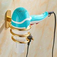 Держатель для волос для волос для волос в стойке для волос Алюминиевая ванная комната Стенд для хранения ванной комнаты Стенд полка настенный монтируемый ноготь без бурения1