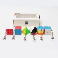 Zcube Bundle 6шт / комплект Подарочный пакет Мини волшебный куб 2x2x2 3x3x3 волшебный шар цилиндр брелок головоломки развивающие игрушки для детей 201226