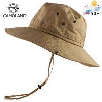 Cloches upf50 + قبعة الشمس النساء الرجال شبكة دلو الصيف الصيد المشي قبعة واسعة بريم uv حماية رفرف تنفس شاطئ في الهواء الطلق