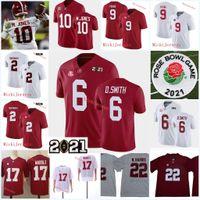 Hombre Alabama Crimson Tide Bryce Jersey de fútbol joven 2 Patrick Surtain II Najee Harris Jaylen Waddle Mac Jones Devonta Smith Alabama Jersey