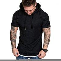 Мужская футболка Slim Fit Casual Pattern Большой размер с коротким рукавом Top Blouse Fashion Streetwear Спорт Boy's T Shirts1