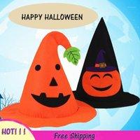 3 pçs / lote halloween decorando itens itens abóbora chapéu assistente chapéu bruxa apontou canto1