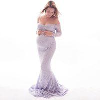 사진 촬영을위한 출산 드레스 임신 여성 의류 레이스 출산 사진 소품 임신 드레스 사진 LJ201124