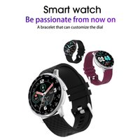 Sport Smart Watch Full Сенсорный экран Фитнес-трекер Сердцетеры Артериальное давление IP68 Браслет для iOS Android