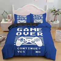 3D Gamer Bedding Set for Boys Twin Comforter Cover Duvet Kids Quilt Soft Microfiber Bedspr