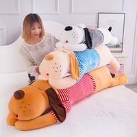 50 ~ 180 سنتيمتر عملاق طويل أفخم لعب لطيف الكلب لينة الحيوان محشوة النوم وسادة وسادة دمية لعب للأطفال هدية المنزل الديكور