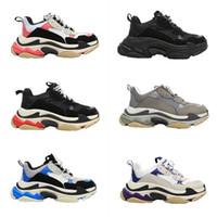 جديد الرجال الثلاثي منصة النساء مصممين عارضة أبي أحذية رياضية أسود الركض التنس المشي رجل balenciaca المدربين حجم 36-45