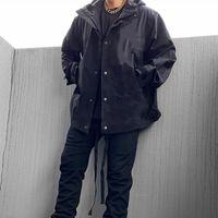 New Men Jacket Letter Carta Impressão Moda Padrão de Manga Longa Jaqueta Quente Estilo Com Capuz Multi bolso Outono Inverno Homens Mulheres Casacos