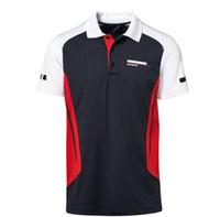 Motorsports jerseys homens e mulheres competição sportswear manga curta t-shirt de secagem rápida dos homens esportes de manga curta polo camisa