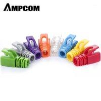 AMPCOM RJ45 Ethernet-Netzwerkkabel-Zugentlastungsstiefel Kabelstecker-Steckerabdeckungen für CAT5 Cat5e Cat6 (Kunststoff) 1
