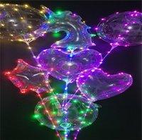 LED BoBo Luminous Ballon Transparent 3M bunte Lichter Ball Chirstmas Hochzeit Dekor Geschenke Baum Einhorn Stern Verkauf C121902