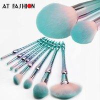 Vente chaude neuve style 8pcs maquillage pinceau set de fondation professionnelle poudre pinceau cosmétique kit de haute qualité sirène brosses de sirène vert livraison gratuite