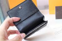 enveloppe carte de visite 2021 جديد وصول عالية الجودة الشهيرة الكلاسيكية مصمم المرأة مفتاح حامل عملة محفظة حقيبة جلدية صغيرة