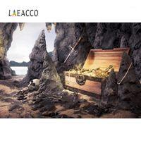 LaeCco Photography Backdrop Pirate Treasure Adventure Battle Island Bebê Papel de parede para celular para Photo Studio1