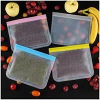 PEVA Food Fresh Bag 28 * 27 cm Traslucido Stoccaggio a Ziplock Stoccaggio frigorifero Frigorifero Sealinato Sigillato Sacchetti di conservazione della frutta