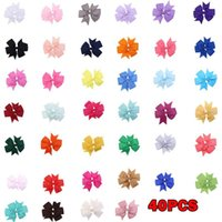 40PC Baby Hair Clips Set Gift Hairclip Girls Sequins Bow Hair Buckle Accessories Sweet Lovely Bowknot Hairpin Delicate Headdress