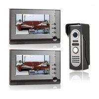 Téléphones de porte vidéo 7 pouces interphone sonnette de sonnette de nuit Vision nocturne IR 700TVL caméra imperméable déverrouillage pour l'appartement de maison Système de téléphone1