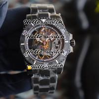R Заверните издание Андреа Пирло Проект углеродного волокна ободок Skeleton коммутируемого Miyota Автоматические 116610 Мужские часы PVD черный стальной лентой Спортивные часы