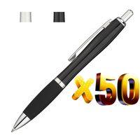Los 50pcs Metall Gourd Kugelschreiber mit Gummigriff, schwarze Tinte Kugelschreiber, New Schreibgerät, Großverkauf fertigt Promotional Gift