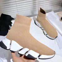 2021-Новые Носок Короткие сапоги Дизайнер Короткие сапоги Высококачественные классические кроссовки Бегуны толчковый ходьба outdoorshoes34-45 С коробкой
