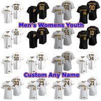 Jerseys de béisbol para mujer Trevor Williams Jersey Jameson Taillon Bill Mazeroski Josh Harrison Barry Bonds Will Craig Oneil Cruz stitche personalizada