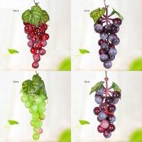 Colgando uvas artificiales DIY frutas artificiales de plástico Fruta falsa para el hogar Decoración de jardín Simulación Frutas Frutas Cadena de uva 95 G2