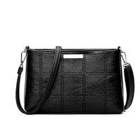 Yogodlns Femmes petits sacs à carreaux solides PU Sac à bandoulière en cuir PU Sac à bandoulière pour femmes Dames Designer de haute qualité rétro sac à main rétro