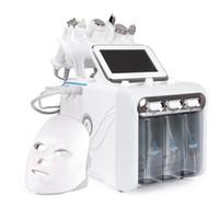 7 in 1 워터 Dermabrasion 기계 LED 페이셜 마스크 깊은 클렌징 워터 제트 하이드로 다이아몬드 얼굴 청소 살롱 용 미세 박피술 사용