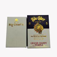 Big Chief Vape-Kartuschen Verpackung 0,8 ml Keramikspulenholzspitze Leerer Vape-Stiftwagen Dicke Ölwachs Vaporizer 510 Thread