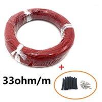 Câble chauffant en fibre de carbone infrarouge de 8 ~ 100 m 12K 33OHM / M fil électrique
