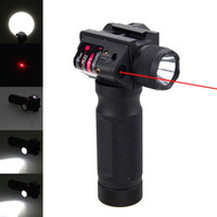Red Dot Laser Sight Tactical Hunting LED Torcia Torcia rossa Laser Combo Sight Tactical Gun Torch per 20 mm Guida a tessitore