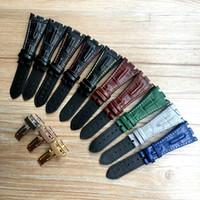 Schwarz Blau Grau Grün Braun mit Stichen echtes Leder-Uhrenarmband-Armband mit Stahl Faltschließe Für AP Band 28mm