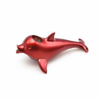 Mais novo filtro Cigarro Tubos Metal Oceano Animal Golfinho Projeto Erva Tubo Mão Vermelho Preto Azul Decorativo Pingentes Para Acessórios Para Fumar