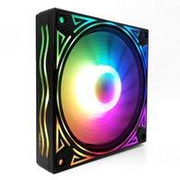 Pads de refrigeração de laptop Coolmoon fãs colorido backlight 120mm 6pin RGB CPU ventilador mudo pc mudo heatsink com o controle remoto para PC1