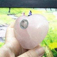 Tubo di fumo di cristallo naturale Vendere Bene rough Polish Piet Toys Toys Sigarette Tubi Tubi a forma di cuore per ornamento a casa NUOVO 32OJ H1