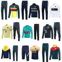2020 2021 Club de Futbol AMÉRICA Jacket México Cheatsuits Fútbol Cortavientos Peralta Sportwear Sudadera con capucha Camisa de entrenamiento PRE PARTIDO DE PISTA DE PISTA