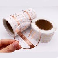 선물 랩 4.5cm 접착제 사용자 정의 클리어 로즈 골드 스티커 라벨 인쇄 롤 투명 호일 스티커 로고