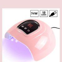 54W 18LEDS УФ-лак UV Lamp LED Nail Осушитель светодиодных цифровой Sceen для отверждения гель польского автоопределения Nail лампа новой