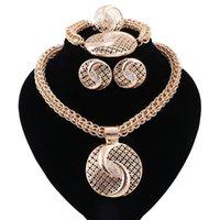 Utsökt Dubai Smycken Set Luxury Golden Plated Big Nigerian Bröllop African Beads Smycken Set Kostym Ny design